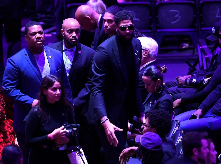 Anthony Davis, Celebration of Life, Kobe Bryant, Gianna Bryant, Celebrities, Lakers