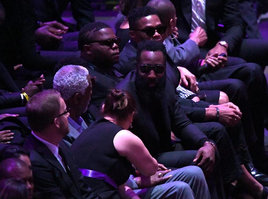 Bill Russell, James Harden, Russell Westbrook, Celebration of Life, Kobe Bryant, Gianna Bryant, Celebrities