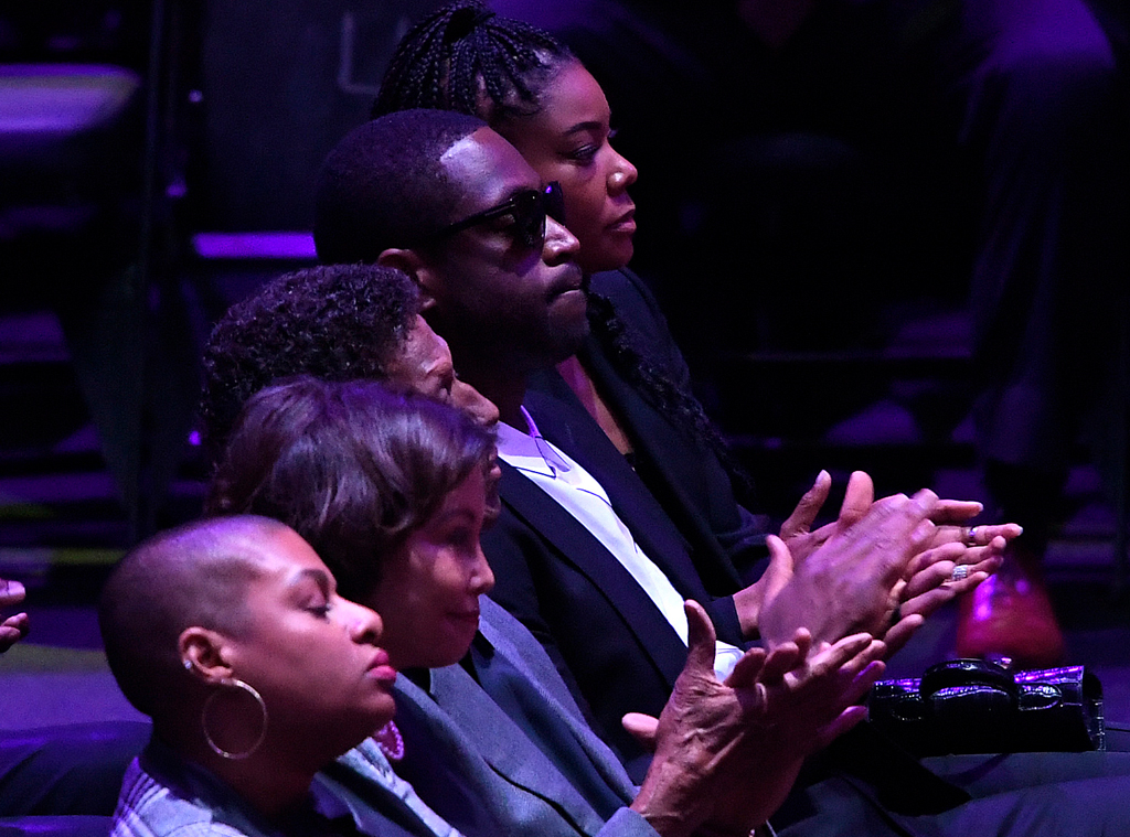 Dwyane Wade, Gabrielle Union, Celebration of Life, Kobe Bryant, Gianna Bryant, Celebrities, Lakers