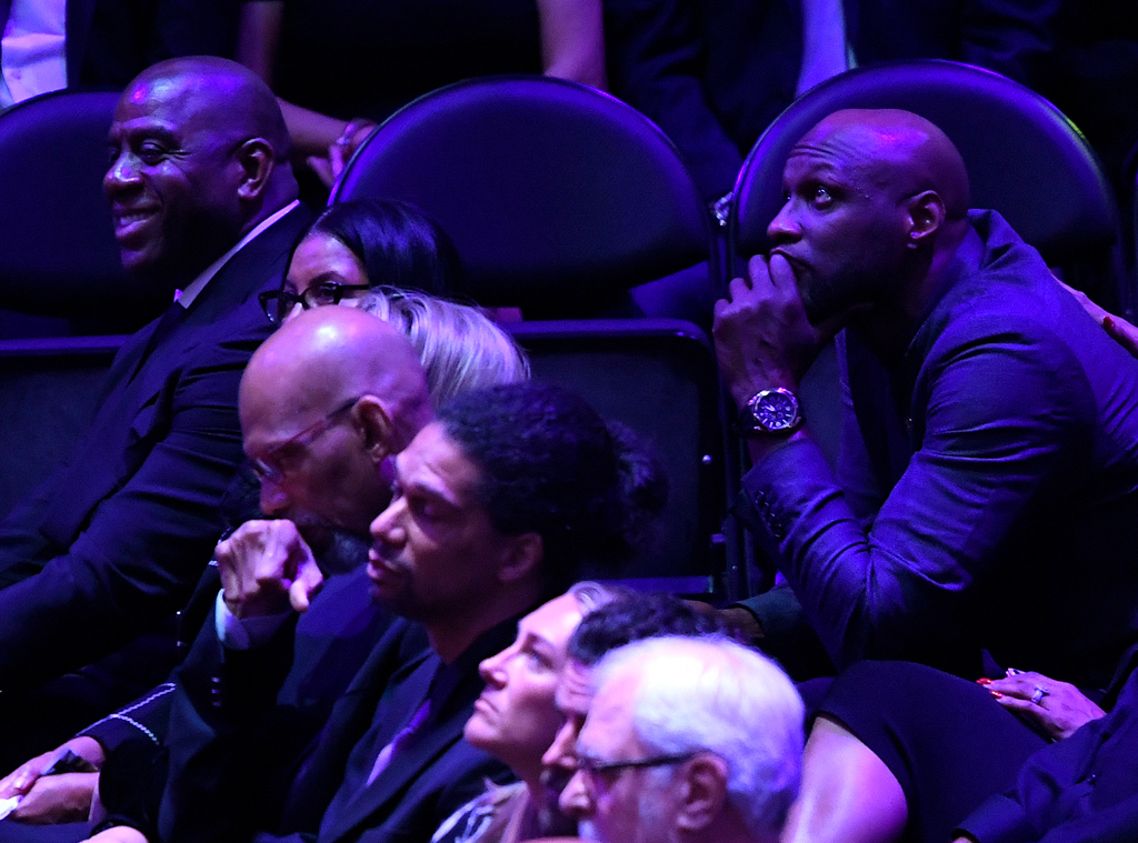 Magic Johnson, Lamar Odom, Celebration of Life, Kobe Bryant, Gianna Bryant, Celebrities, Lakers
