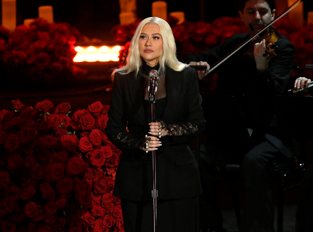 Christina Aguilera, Celebration of Life, Kobe Bryant, Gianna Bryant, Celebrities