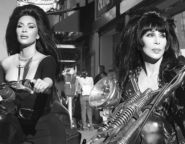 Kim Kardashian's Legendary Photo Shoot With Cher Is a