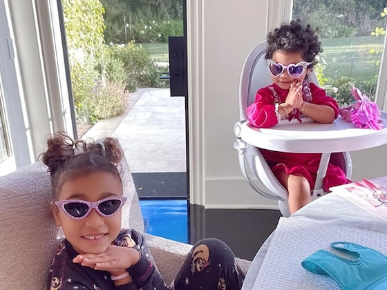 North West and True Thompson Are the Cutest Breakfast Buddies in Khloe Kardashian's Photos