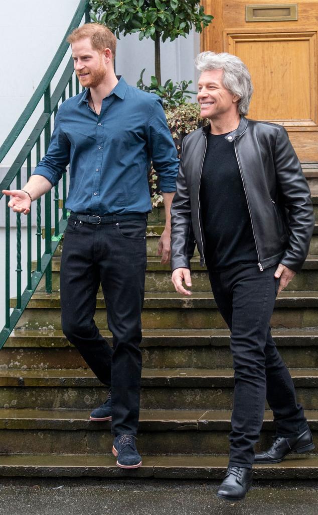 Prince Harry, Jon Bon Jovi