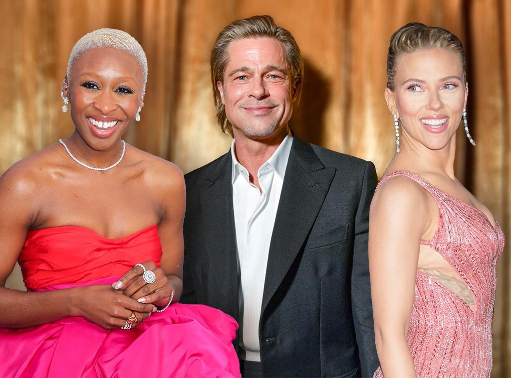 E-Comm: Oscar Nominees Gift Bag, Cynthia Erivo, Brad Pitt, Scarlett Johansson