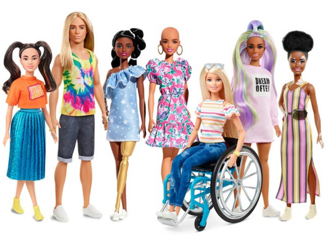 Barbie careca e com vitiligo