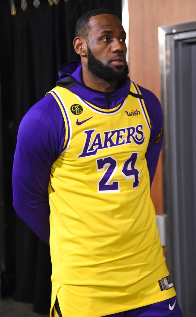 Lakers Game, Kobe Bryant Tribute, LeBron James