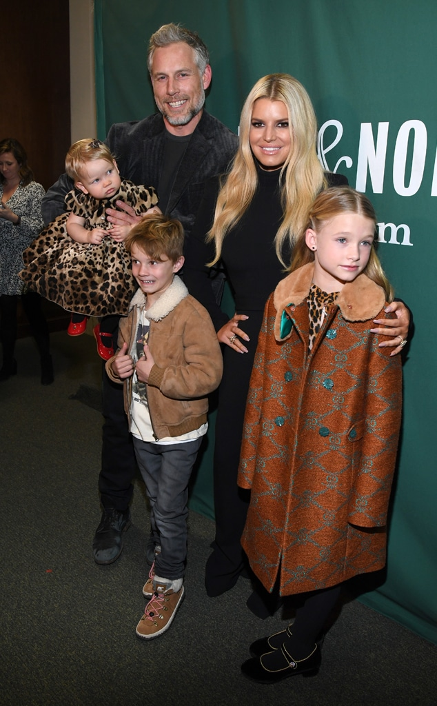 Eric Johnson, Jessica Simpson, Birdie Mae Johnson, Ace Knute Johnson, Maxwell Drew Johnson