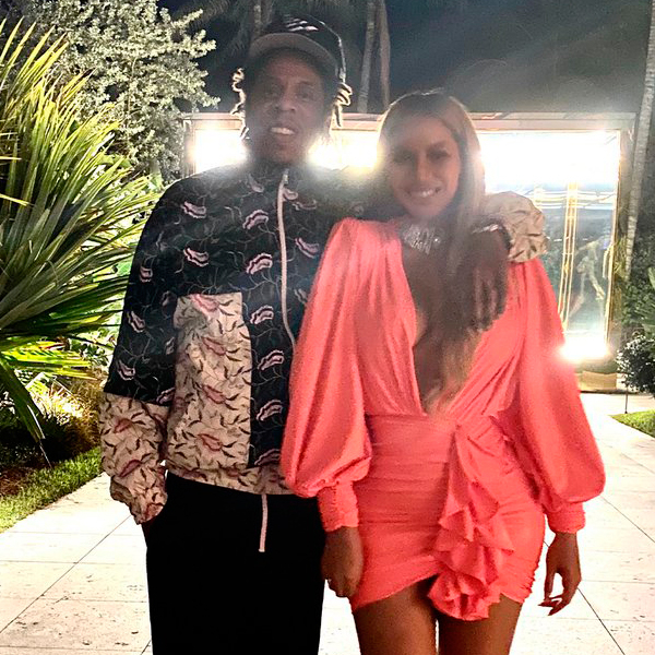 Beyoncé Stuns in Hot Pink Dress During Date Night in Miami with Jay-Z