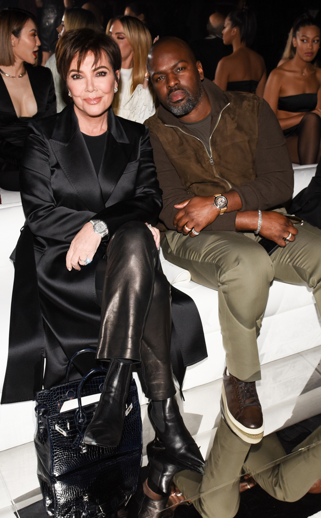 Tom Ford Fashion Show, Kris Jenner, Corey Gamble