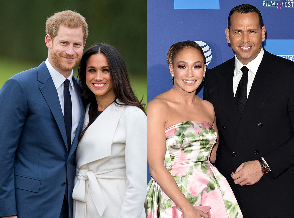 Prince Harry, Meghan Markle, Jennifer Lopez, Alex Rodriguez