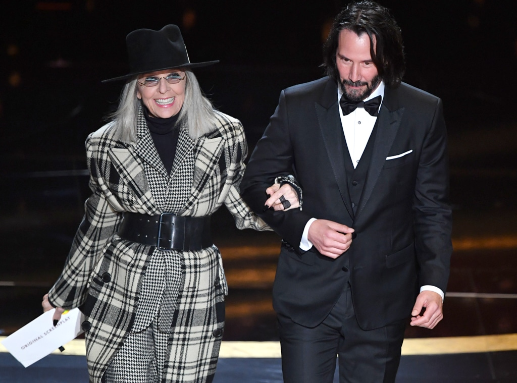 Diane Keaton, Keanu Reeves, 2020 Oscars, Academy Awards, Show, Reunions