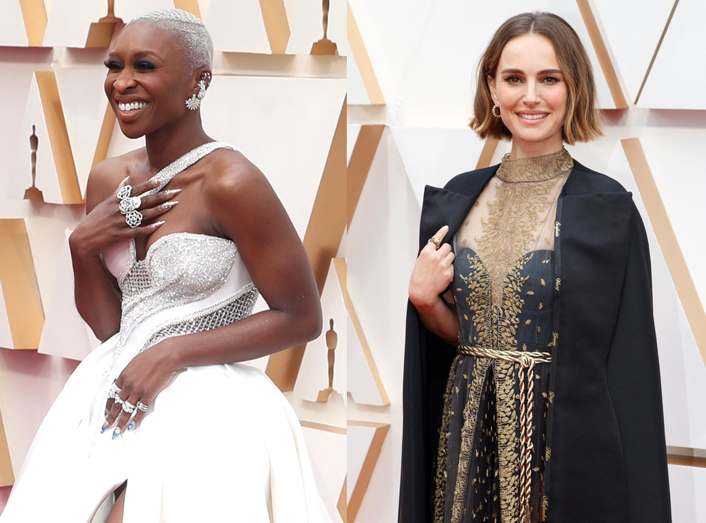 Cynthia Erivo, Natalie Portman, 2020 Oscars, Academy Awards, Best Accessories