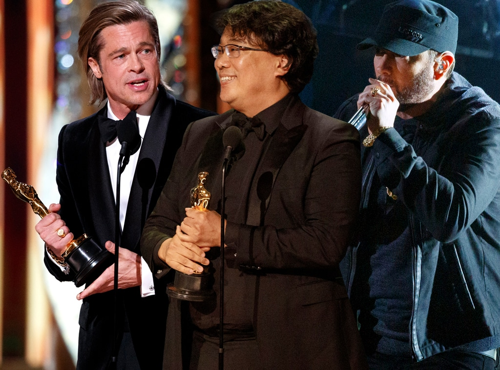 Brad Pitt, Bong Joon-ho, Eminem, 2020 Oscars, Academy Awards, Jaw-Droppers