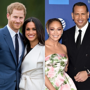 Prince Harry, Meghan Markle, Jennifer Lopez, Alex Rodriguez