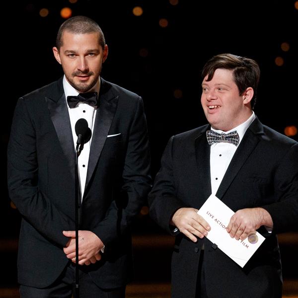 Shia LeBeouf, Zack Gottsagen, 2020 Oscars, Academy Awards, Show