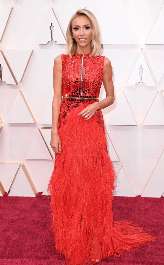 Giuliana Rancic, 2020 Oscars, Academy Awards, Red Carpet Fashions