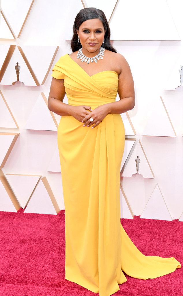 Mindy Kaling, 2020 Oscars, Academy Awards, Red Carpet Fashions
