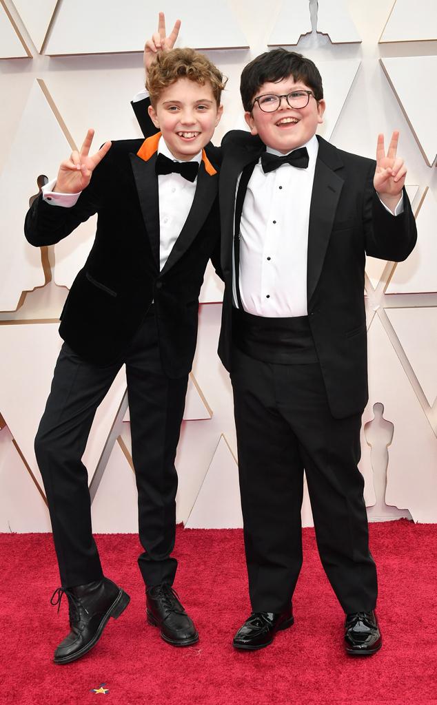 Roman Griffin Davis, Archie Yates, 2020 Oscars, Academy Awards, Candids