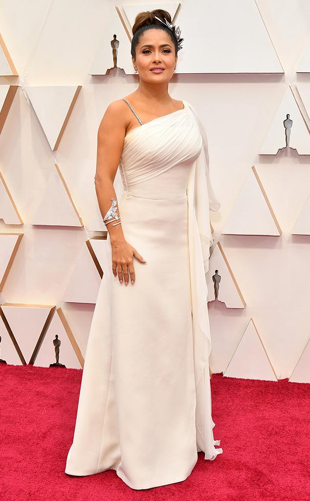 Salma Hayek Pinault, 2020 Oscars, Academy Awards, Red Carpet Fashions