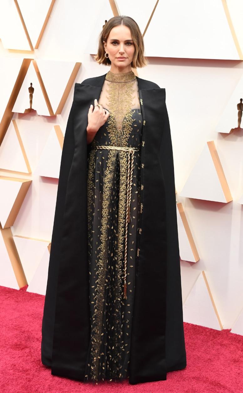 Natalie Portman, 2020 Oscars, Academy Awards, Red Carpet Fashions