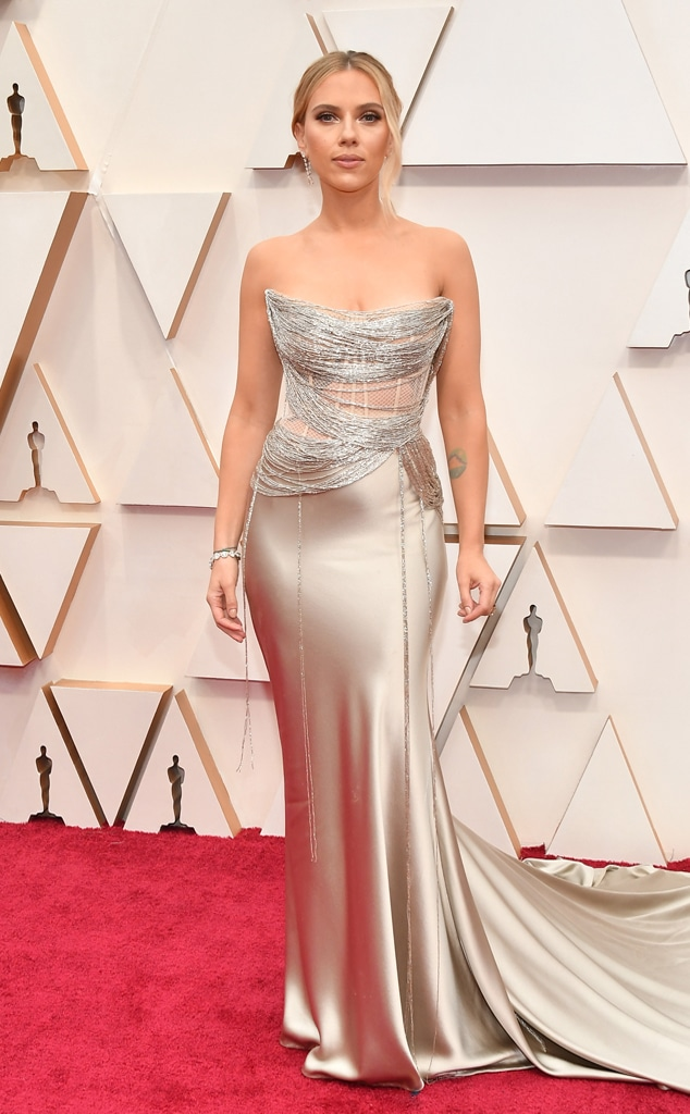 Scarlett Johansson, 2020 Oscars, Academy Awards, Red Carpet Fashions