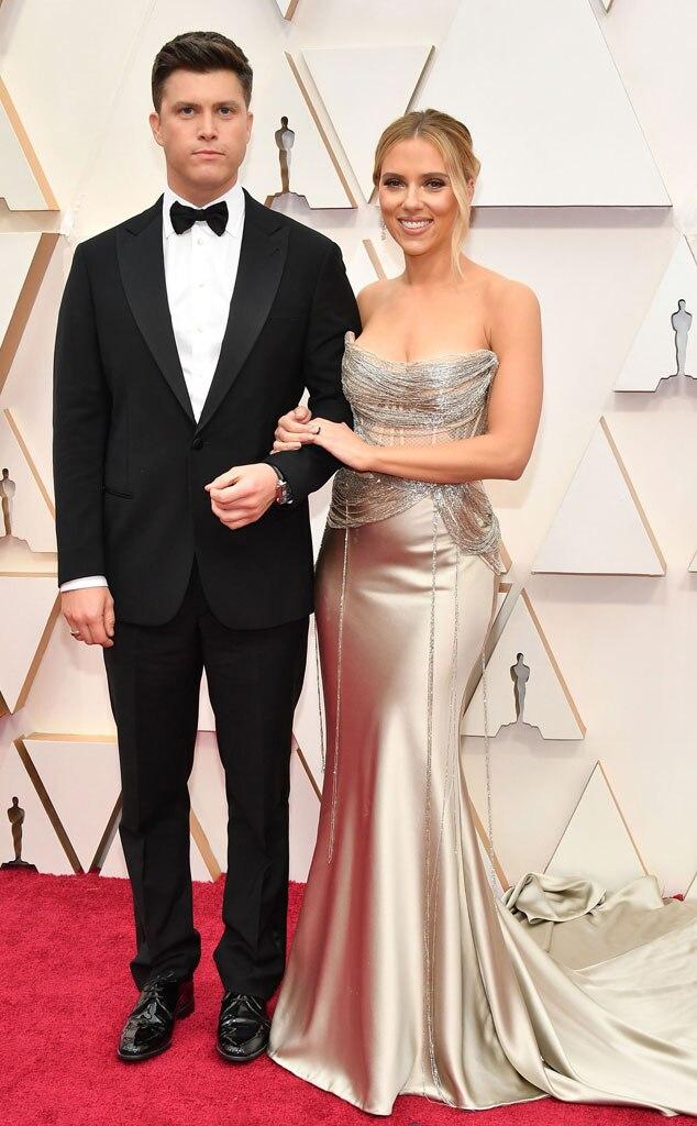 Colin Jost, Scarlett Johansson, 2020 Oscars, Academy Awards, Couples