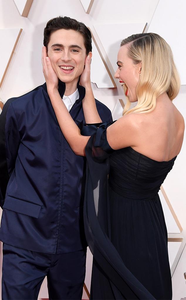 Timothee Chalamet, Margot Robbie, 2020 Oscars, Academy Awards, Candids