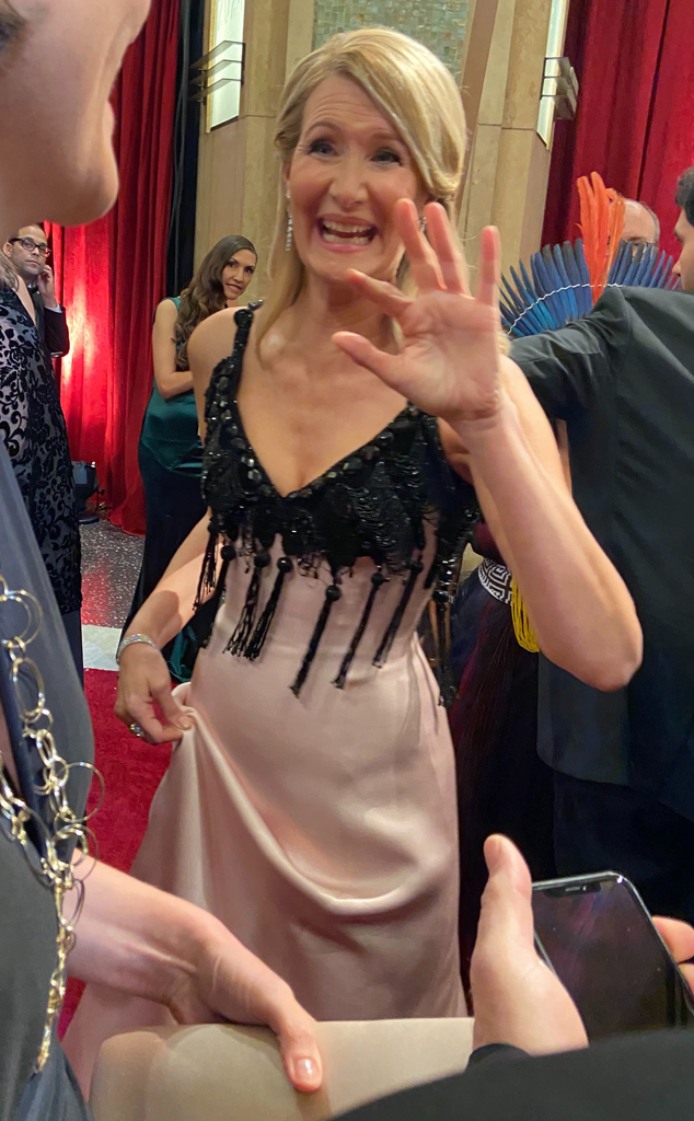 Laura Dern, 2020 Oscars, Academy Awards, Exclusive Behind the Scenes