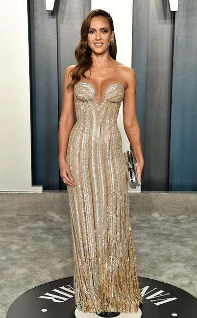 2020 Vanity Fair Oscar Party, Jessica Alba