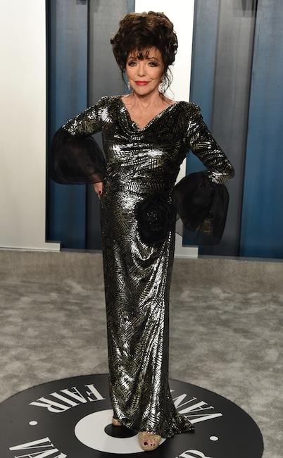 Joan Collins, 2020 Vanity Fair Oscar Party