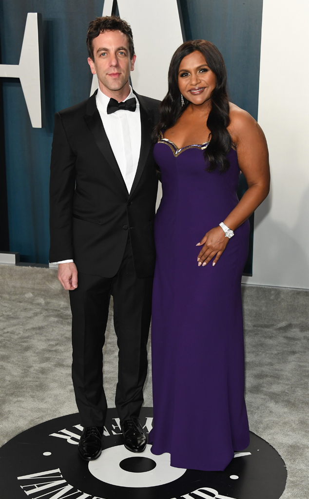 BJ Novak, Mindy Kaling, 2020 Vanity Fair Oscar Party