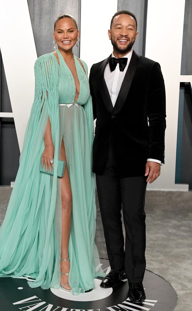 Chrissy Teigen, John Legen, 2020 Vanity Fair Oscar Party