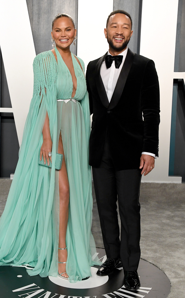 Chrissy Teigen, John Legen, 2020 Vanity Fair Oscar Party