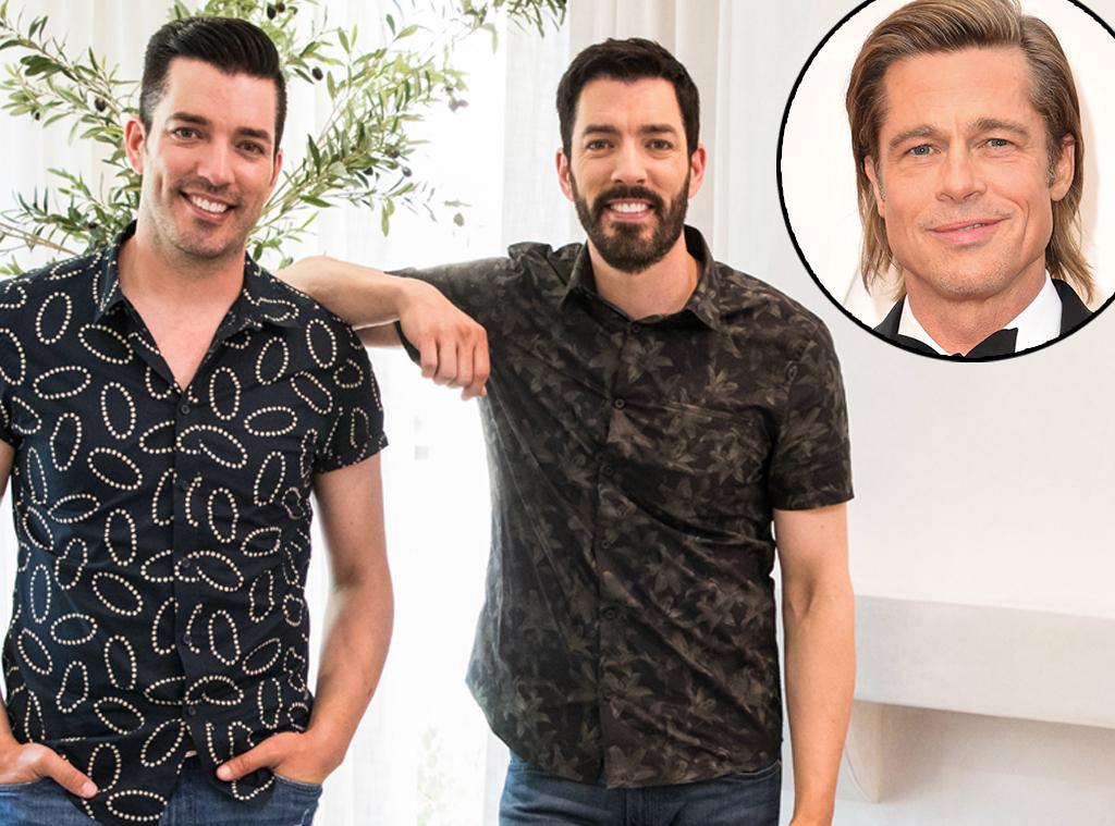 Brad Pitt, Property Brothers Jonathan Scott, Drew Scott