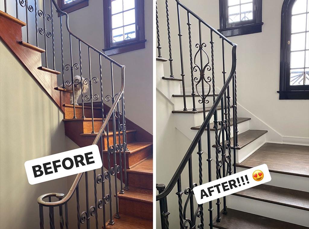 Stassi Schroeder, stairs, Instagram