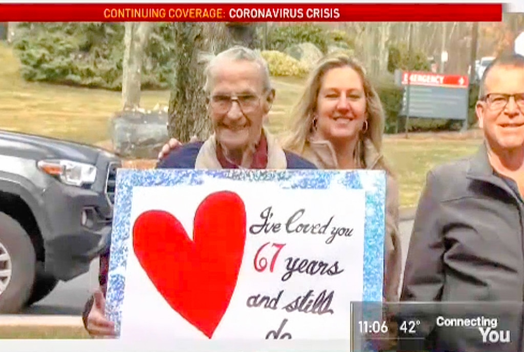 Husband Celebrates Anniversary Outside Wife's Nursing Home