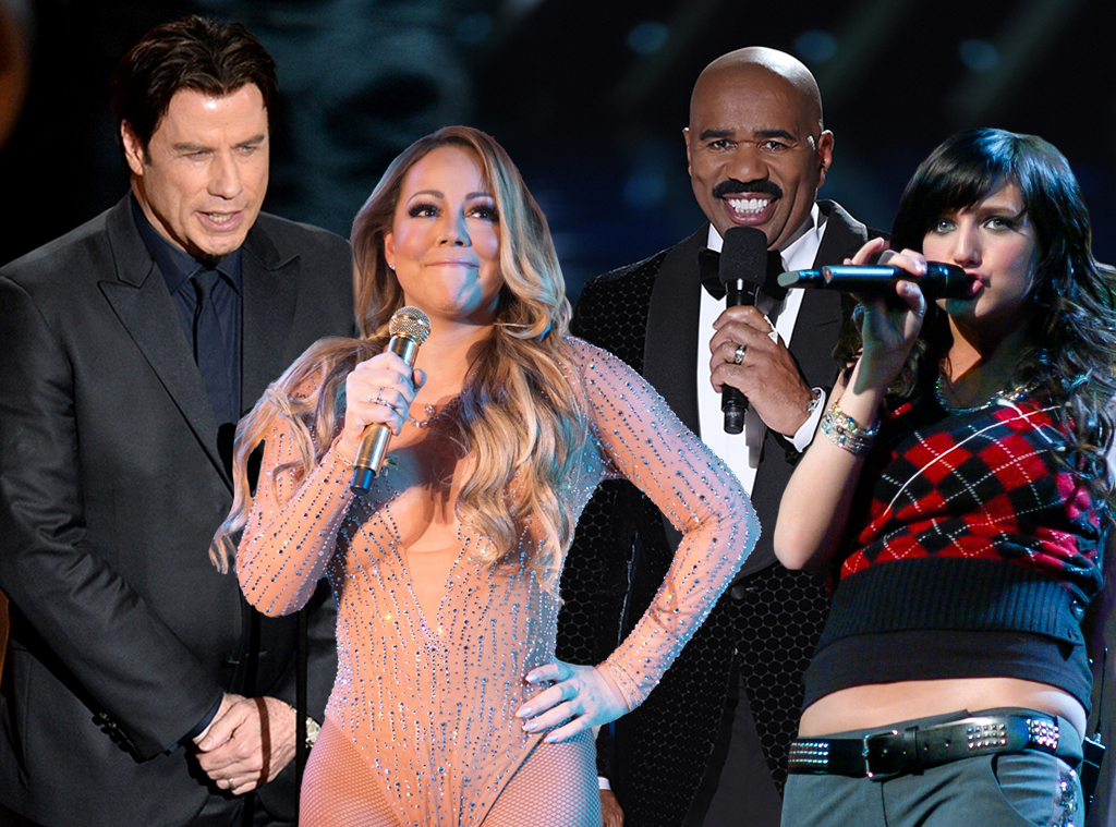 Awkward Moments, John Travolta, Mariah Carey, Steve Harvey, Ashlee Simpson
