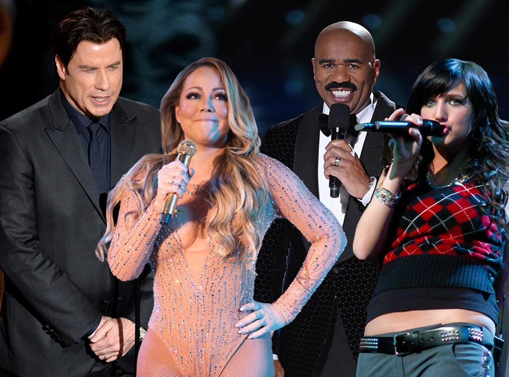 Awkward Moments, John Travolta, Mariah Carey, Steve Harvey, Ashlee Simpson