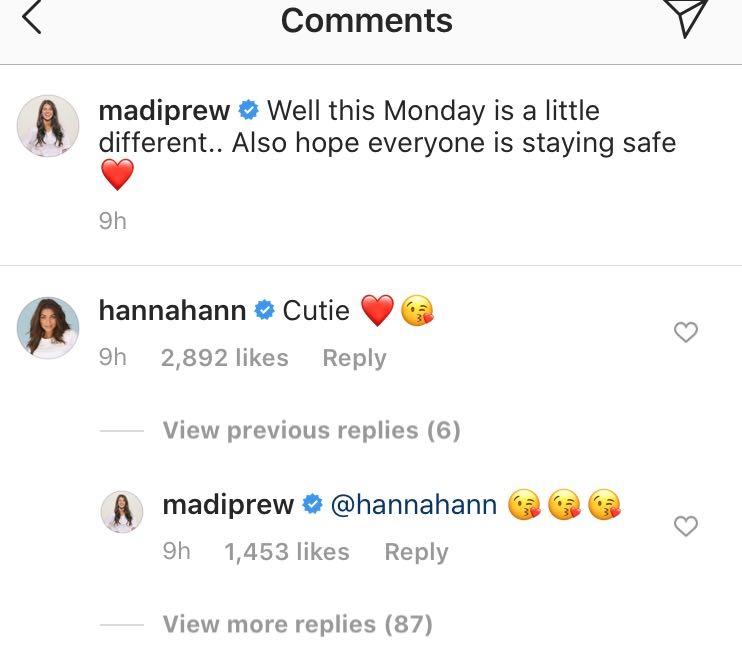 Hannah Ann Sluss, Madison Prewett, Instagram