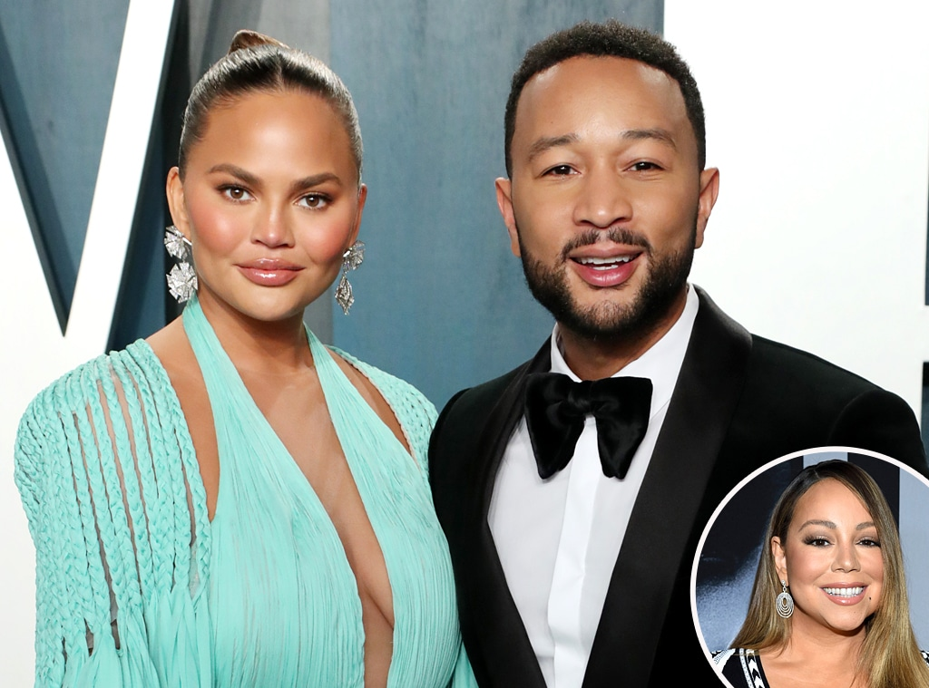 Chrissy Teigen, John Legend, Mariah Carey