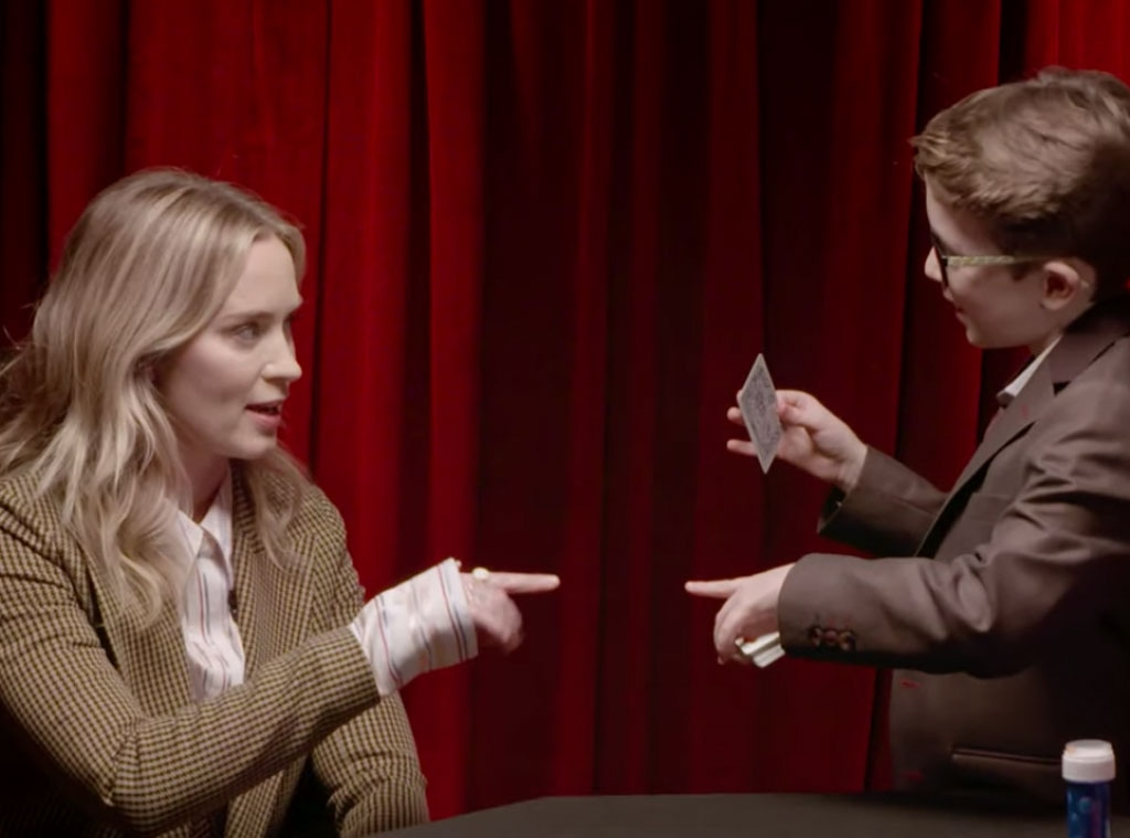 Emily Blunt, Ellen Show, Aidan the Magician