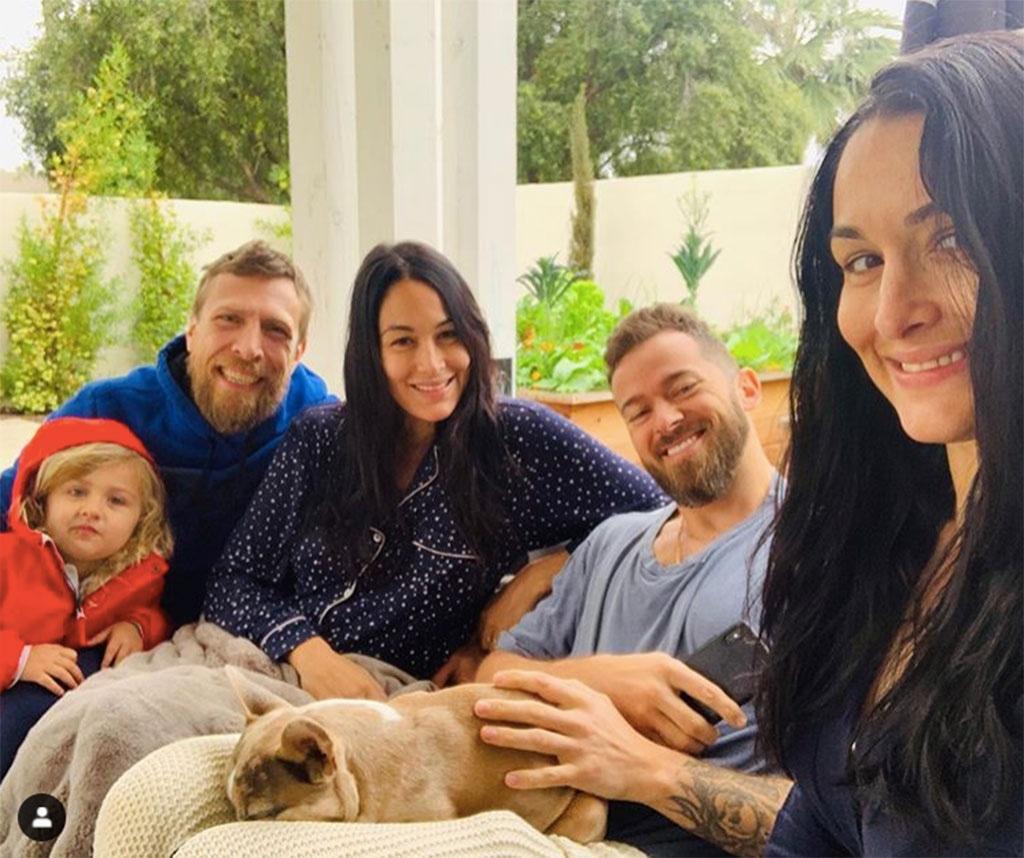 Brie Bella, Daniel Bryan, Birdie Joe Danielson, Nikki Bella, Artem Chigvintsev