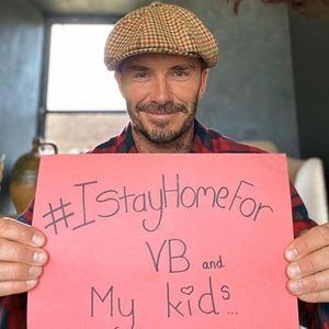 David Beckham, #IStayHomeFor Challenge