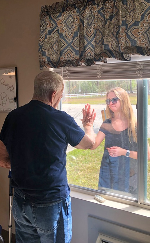 Girl Shows Engagement to Grandpa In Nursing Home
