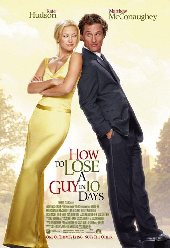 How to Lose a Guy in 10 Days, Kate Hudson, Matthew McConaughey, Rom-Coms