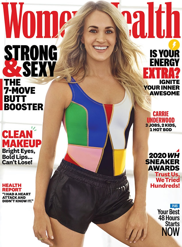 Carrie Underwood, Women's Health, April 2020