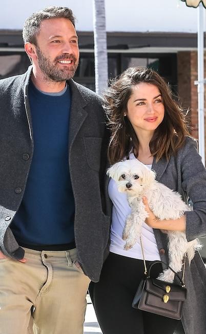 Ben Affleck, Ana de Armas, dog, National Puppy Day 2020