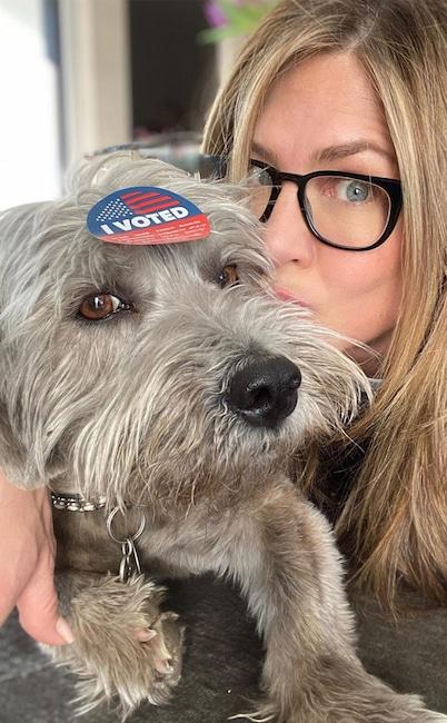 Jennifer Aniston, dog, Clyde, National Puppy Day 2020