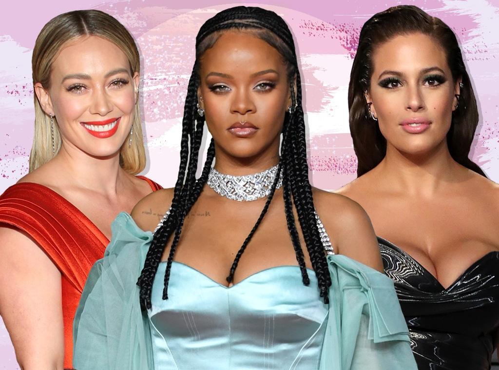 E-Comm: Celebs' Fave Low-Key Makeup, Hilary Duff, Rihanna, Ashley Graham